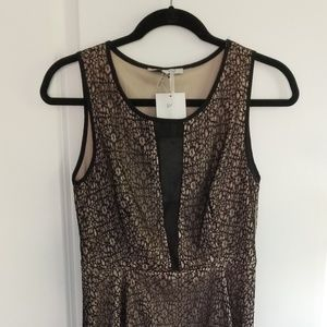 Lucy Paris black and tan dress size small